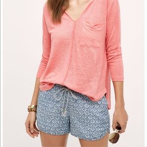 Level 99 | Anthropologie Chambray Pattern Shorts
